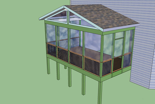 10 X 10 Screened In Porch Houses Plans Designs